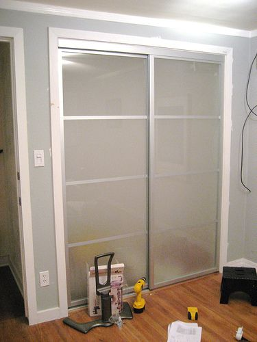 Plexi Glass Doors : Amazing sliding closet door makeovers one home glasses