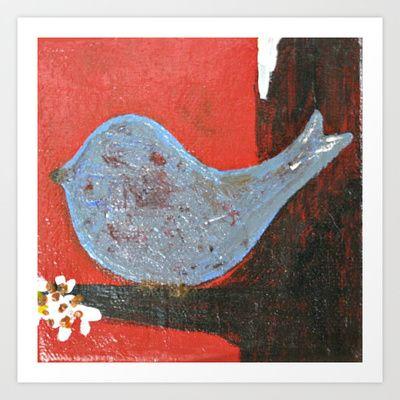 A Little Birdie Told Me Art Print by AngelaMarieArt - $15.48