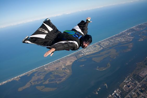 Base jump with a wingsuit!: