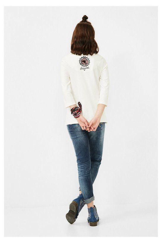 Camiseta blanca con paisley | Desigual.com H
