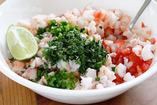 Skinny Shrimp Salsa #glutenfree