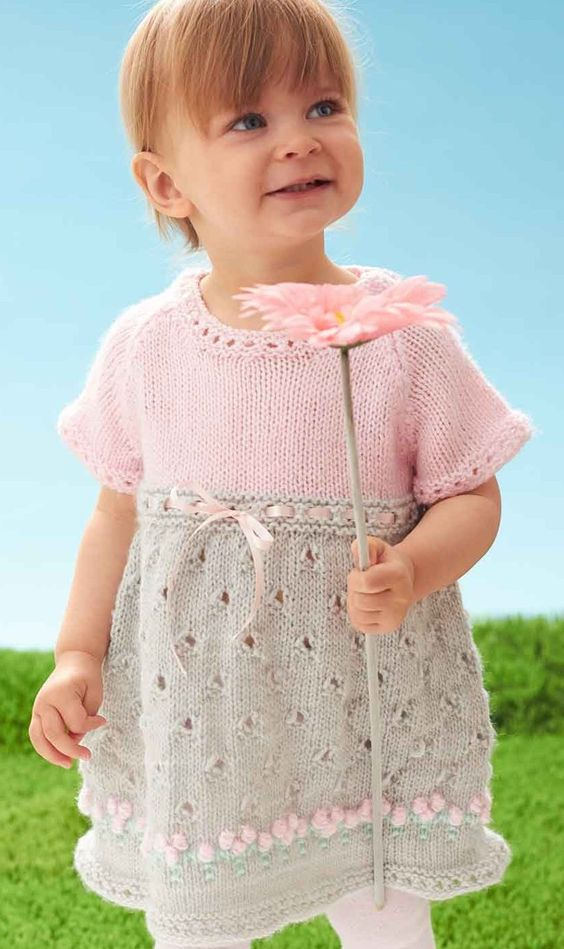 Dresses and Skirts for Children Knitting Patterns Lace, Baby & toddler ...