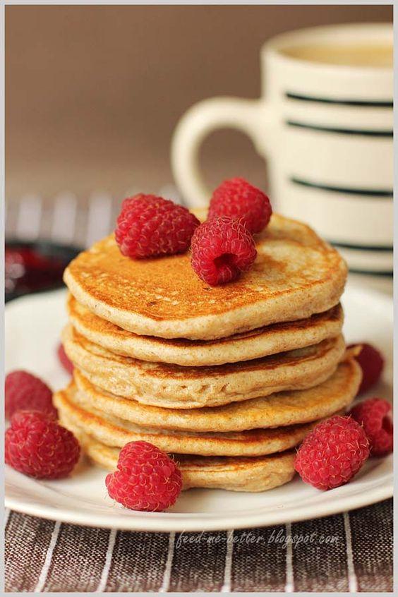 Light whole wheat ricotta pancakes