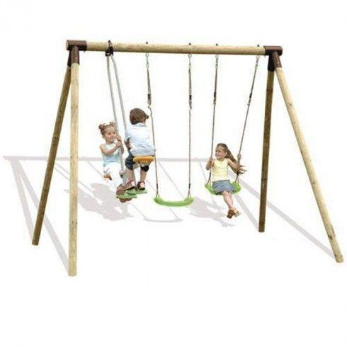 Portique bois Trigano 2,50 m. 4 enfants - 189€