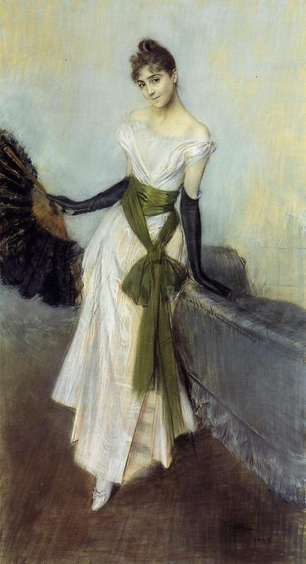 Signorina Concha de Ossa by Giovanni Boldini, 1888 Italy. #1880s #victorian