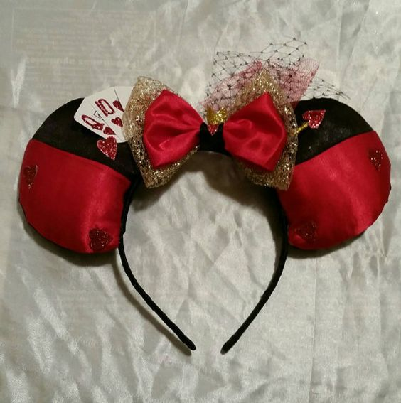 Check out this item in my Etsy shop https://www.etsy.com/listing/267746983/queen-of-hearts-inspired-mouse-ears