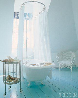 I'm loving blues in the bathroom