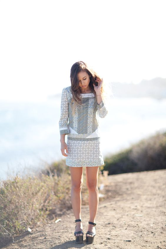 can't deal with how much i <3 her style...vanessa bruno dress, isabelle marant shoes #rumineely