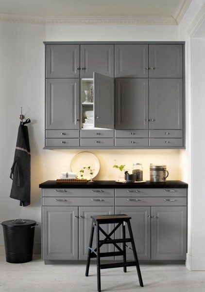fa on atelier d 39 antan avec les fa ades bobbyn gris metod ikea home pinterest ikea. Black Bedroom Furniture Sets. Home Design Ideas