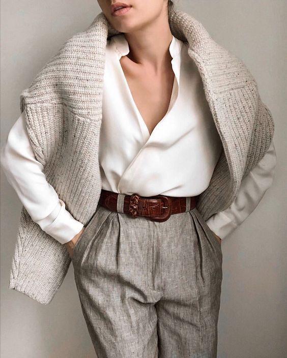 Как носить белую рубашку зимой: 15 беспроигрышных вариантов - tochka.net