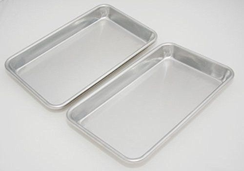 Libertyware Mini Sheet Pans Set Of 4 10x 6x 1 25 4 Pack Aluminum Pan Set Sheet Pan Toaster Oven