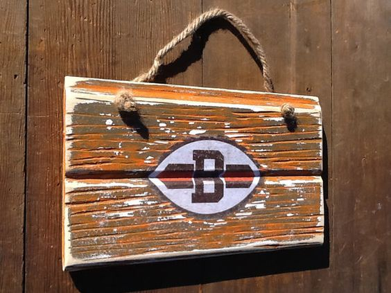 Cleveland Browns Reclaimed Wood Sign Vintage by WOODruSAYIN