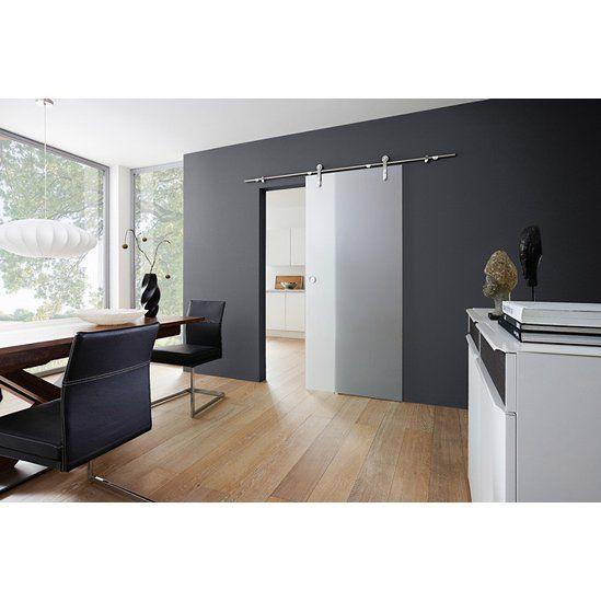 Glasschiebetür Fumo offenes System Satiniert 90 cm x 205 cm - küchen arbeitsplatten obi