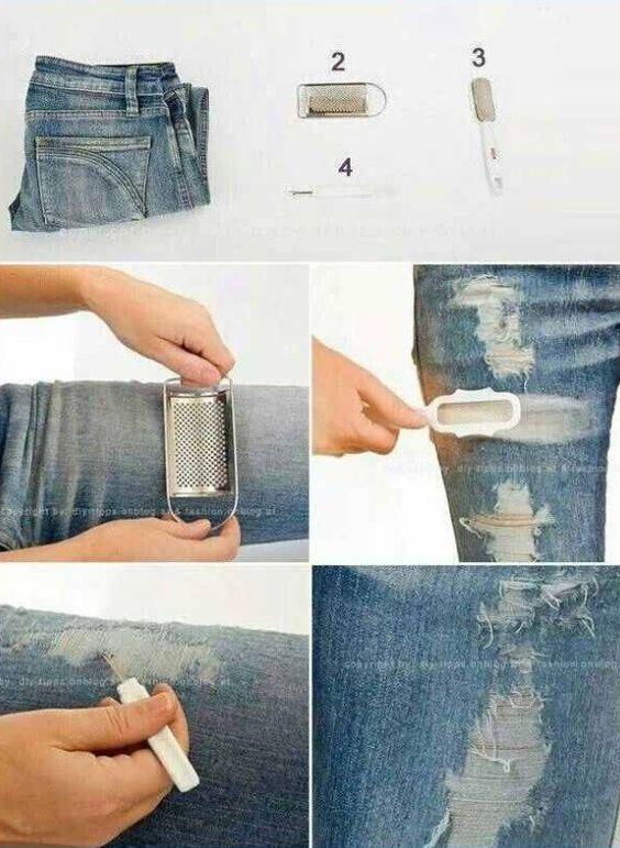 DIY Distress Your Jeans! #Beauty #Trusper #Tip