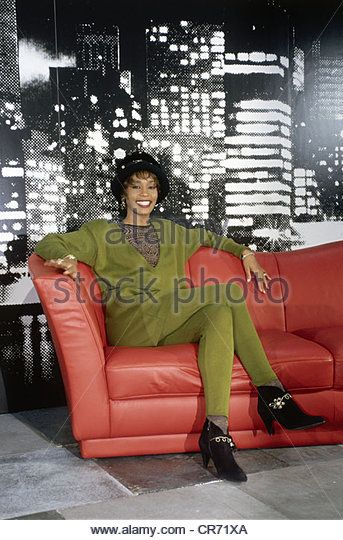 Houston, Whitney, 9.8.1963 - 11.2.2012, US singer, actress, half length, during the presentation of her 3rd record - Stock Image