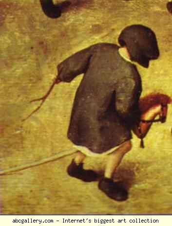 Pieter Bruegel the Elder. Children's Games. Detail. Olga's Gallery.