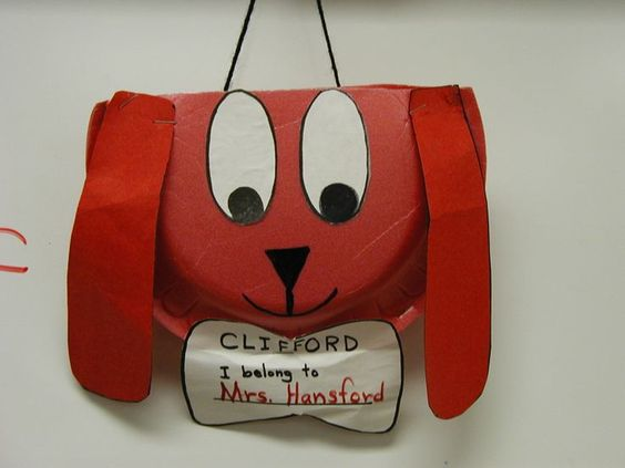 Paper Plate Valentine Mailbox | Cute Clifford the Big Red Dog mailbox for Valentine's Day
