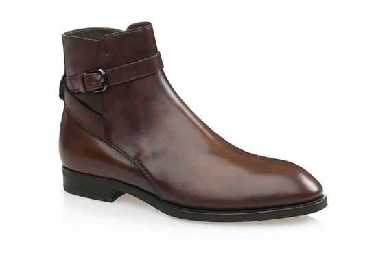 Tod's - Leather Ankle-Strap Boots - Cocoa Brown