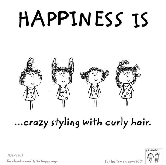 Happiness is crazy styling with curly hair