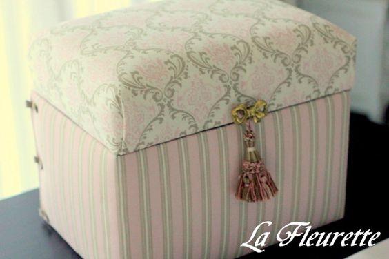素敵すぎるダストボックス。。。 の画像 布のインテリア* ラ フルーレット の ダイアリー