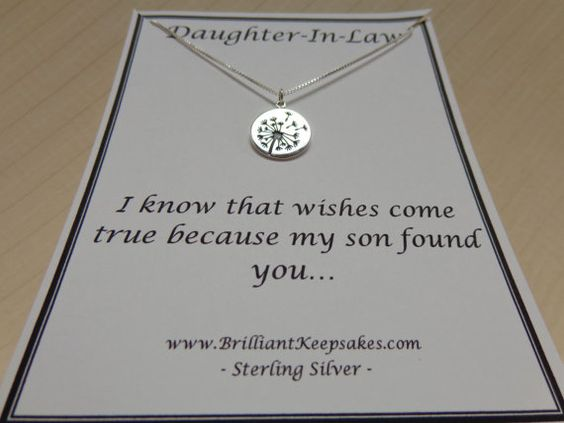 Daughter Son In Law Personalized Poem Christmas Gift: Daughter In Law Gift Idea Wishes Come True Sterling Silver