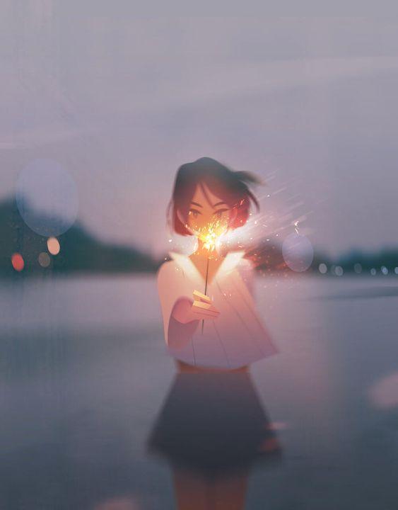 Ela cria belas ilustrações utilizando técnicas incríveis de iluminação - Designerd