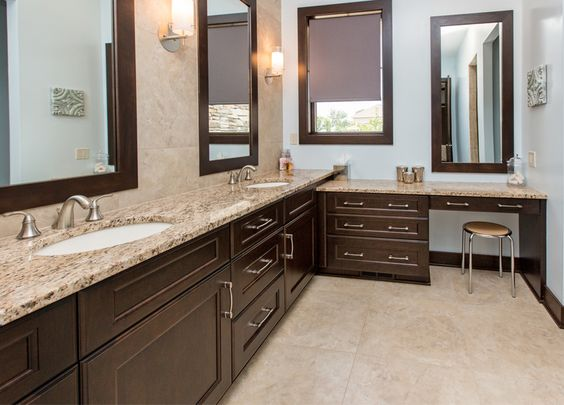 Dark Cabinets Venetian Gold Granite And Granite On Pinterest