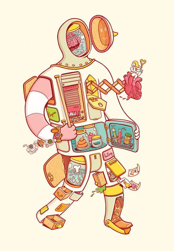 Ilustrações bacaníssimas do estúdio Brosmind: