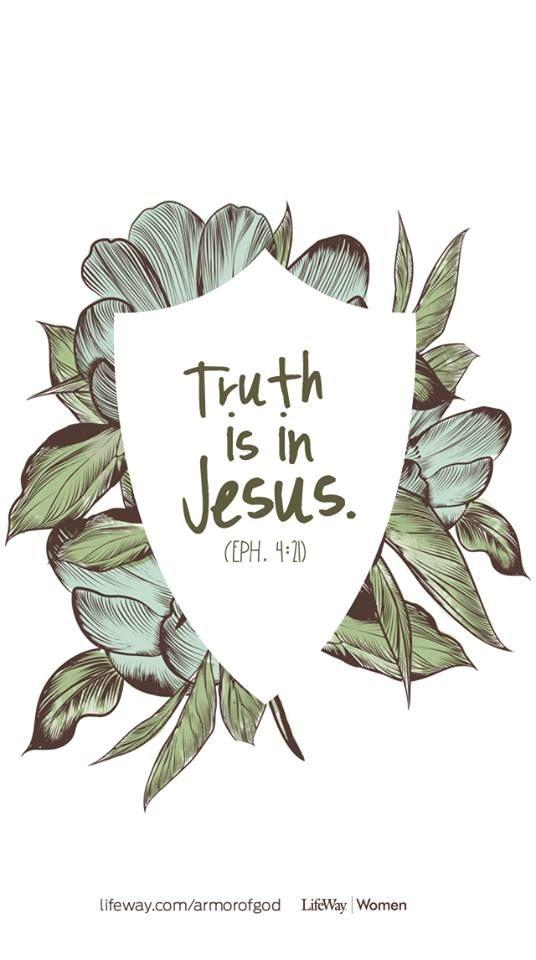 Efesios 4:21 si en verdad le habéis oído, y habéis sido por él enseñados, conforme a la verdad que está en Jesús.♔