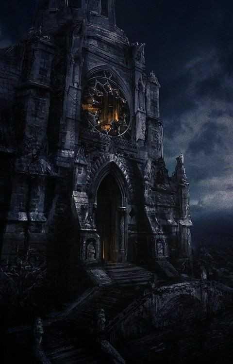 Epic art post Fantasy castle Fantasy landscape Gothic castle