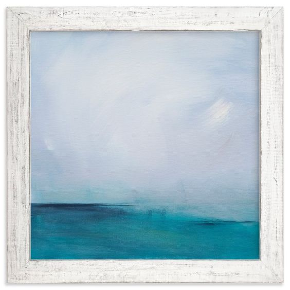 """Distant Island Pier"" - Art Print by Julia Contacessi in beautiful frame options and a variety of sizes."