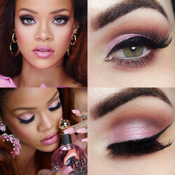 Tutorial – maquiagem romântica inspirada na Rihanna: