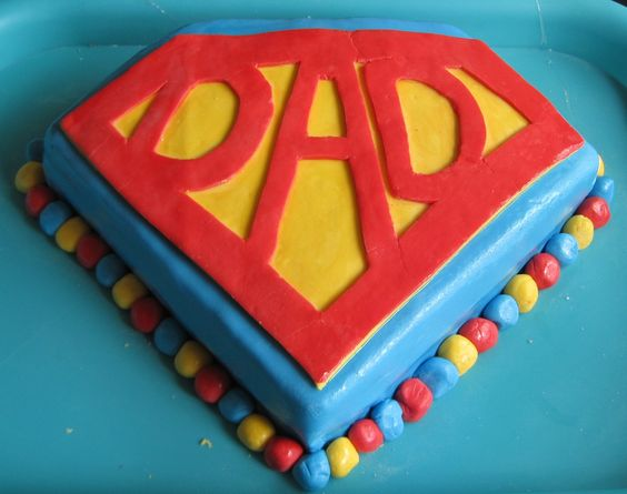 Super Dad Cake...josh keeps calling himself this..lol ...