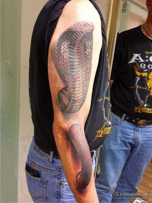 25 niesamowitych tatuaży 3D. Niektóre wyglądają przerażająco realistycznie