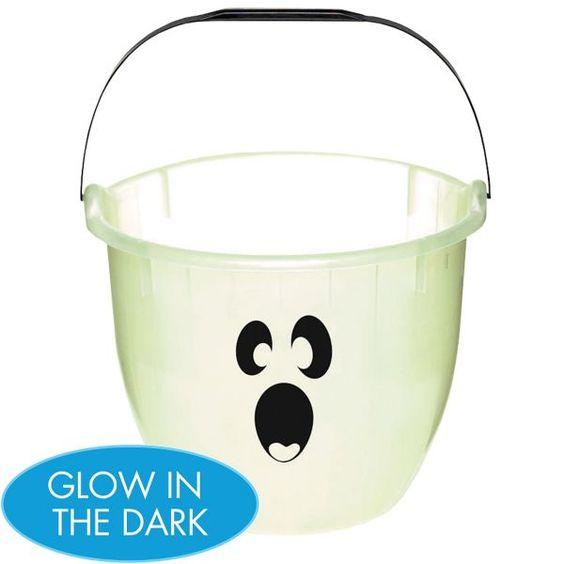 Glow in the Dark Ghostly Treat Bucket