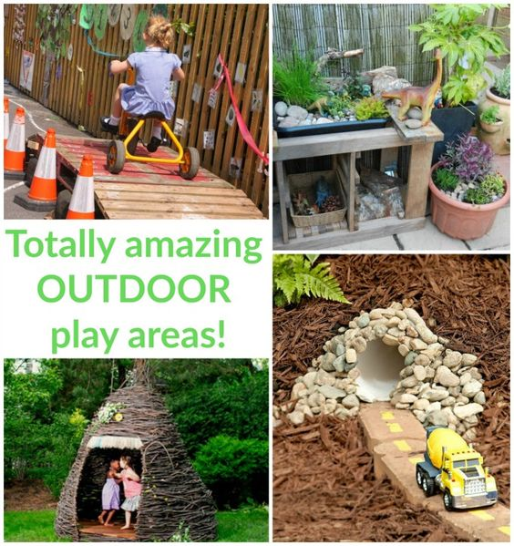 Totally Amazing Outdoor Play Areas | Loads of ideas for inspiring outdoor play areas in this big collection!
