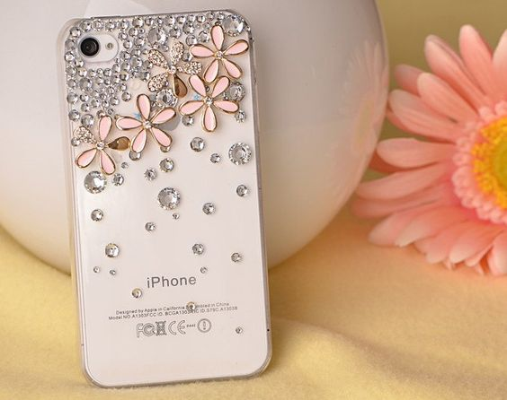Cover iphone 4 - glitzer nude
