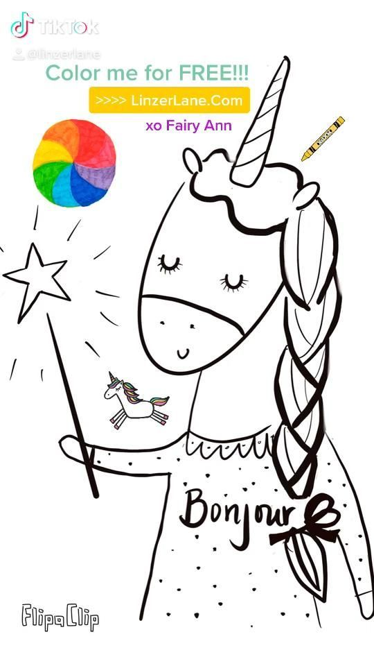 Fairy Ann The Unicorn Coloring Page By Linzer Lane In 2020 Unicorn Coloring Pages Coloring Pages Unicorn Illustration