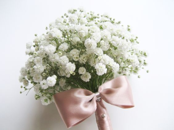 Babys Breath Gypsophila Bridal Bouquet | Adorablest