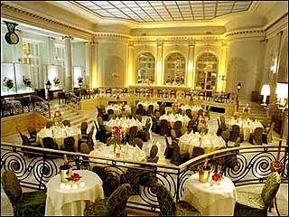 Breakfast at the Waldorf, London, Honeymoon, July 1989.