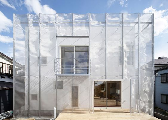 Layers of fine stainless steel mesh envelop this house in Tokyo by local architect Fumihiko Sano, making it look like it is wrapped in gauzy fabric.