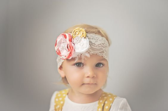 Taylor Joelle Designs Golden Flower Headband