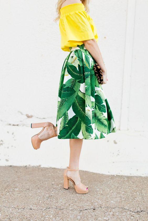 Palm Print Skirt   Chronicles of Frivolity