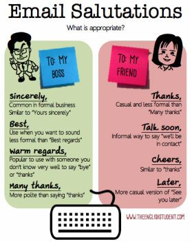 Remember these common ways to sign-off your emails. Your boss will appreciate it!
