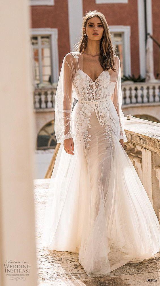berta 2019 privee bridal long sheer sleeves