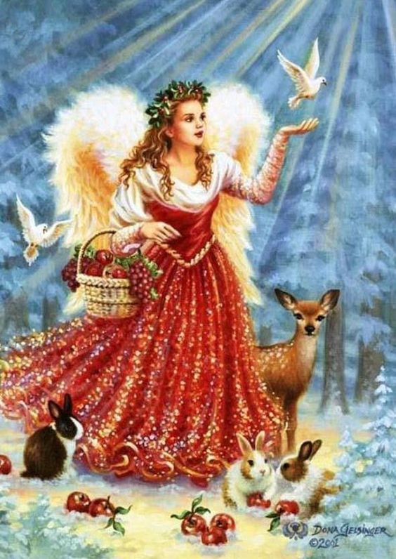 Christmas Card Angel Wings: