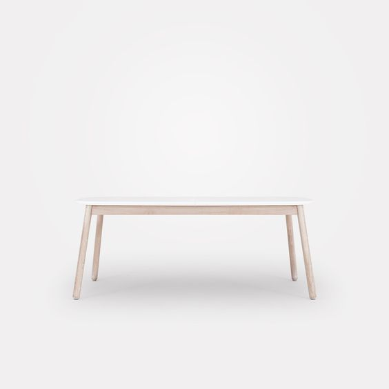 Native matbord 180+50, vit vitlaserad ek u2013 Department u2013 Köp online på Rum21 se dining Pinterest