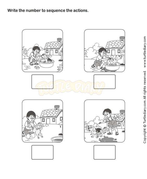 Picture Sequence Worksheet 18 eslefl Worksheets kindergarten – Kindergarten Sequence Worksheets
