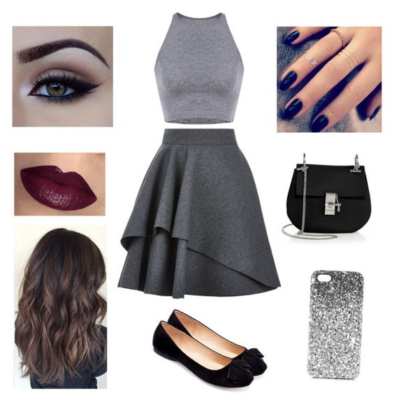 """""""Cute"""" by oliviaolmstead on Polyvore featuring Alexander McQueen, Machi, Chloé, Topshop and Lottie"""