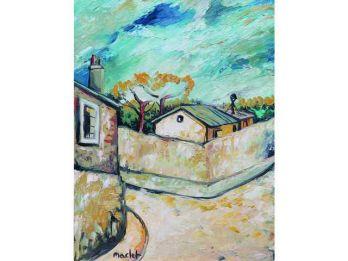 #ElishaMACLET 1881-1962. #Montmartre, #Paris. Oil on canvas signed lower left.